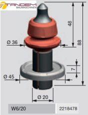 Резец дорожный Wirtgen W6/20 (W6/20X) с усиленной шайбой