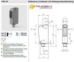 Датчик Leuze 11-30V PNP FRK95/44-150L