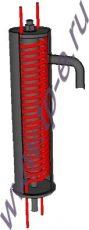 Холодильник отбора проб воды и пара Д-133 (ХД-125-4-151)