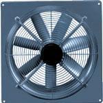 Осевые вентиляторы с настенной панелью