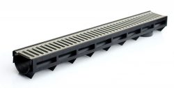 Канал пластиковый с оцинкованной решеткой